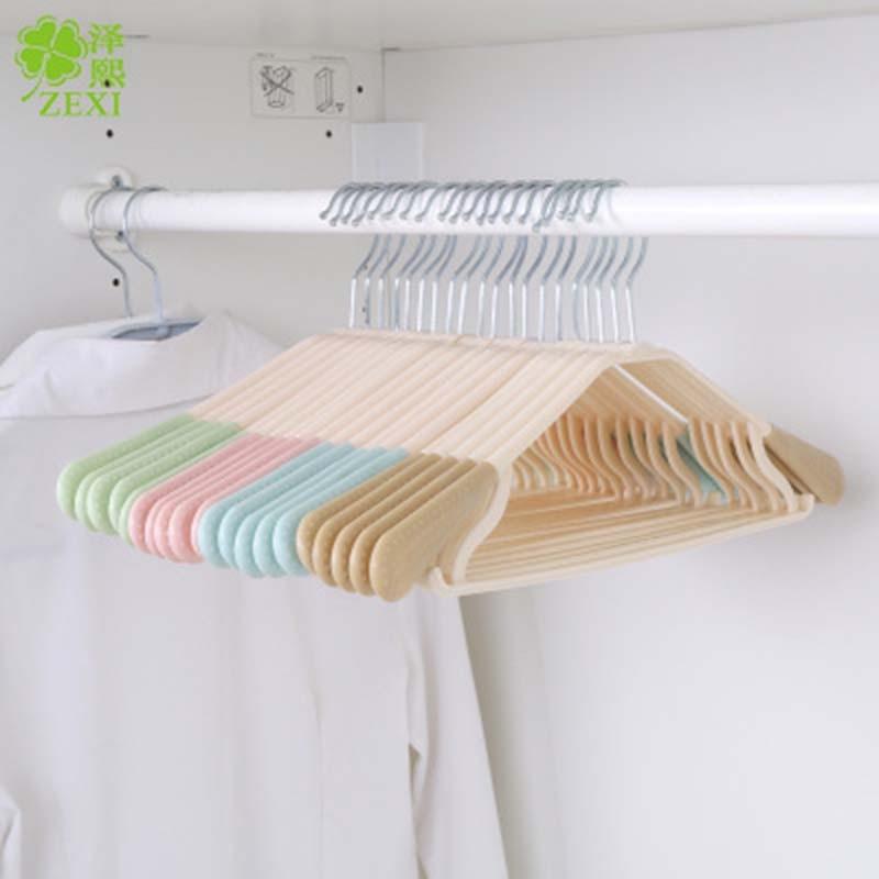 Doreen Box Adult dip slip-resistant metal plastic hanger clothes rack clothes hanging multicolour hangers for clothes 1PC