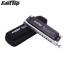 East top 12 Holes Harmonica Chromatic 48 Tone Harp Instrumentos Mouth Organs Harmonica Blues Musical Instruments  EastTop T1248K