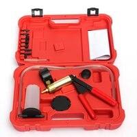 Car Auto Hand Held Vacuum Pump Brake Bleed Adaptors Fluid Reservoir Tester Kit