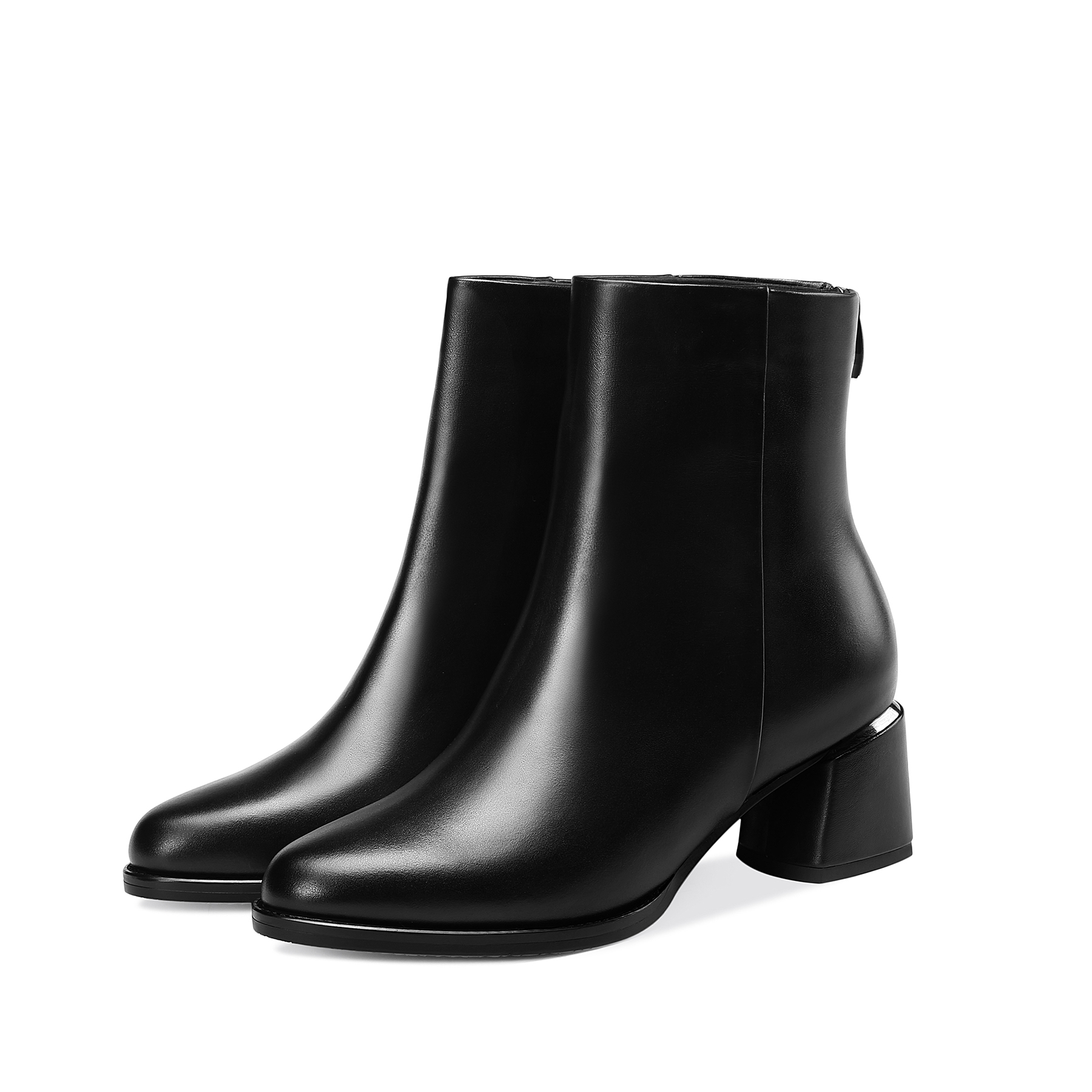 Winter Warm Winter Shoes Genuine Leather Black Boots Women 5 5cm Big Size in Ankle Boots from Shoes