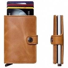 Marke Neue Mini Brieftasche mit Automatische Kartenhalter Kreditkarte Fall Karte Organizer Rfid-karte Protector Männer Brieftaschen EN5595