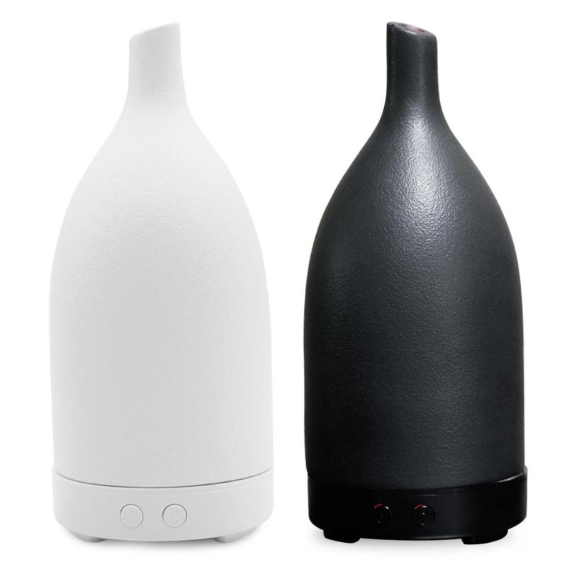 Home Office 100ml Ceramic Ultrasonic LED 7 Color Lamp Air Humidifier Essential Oil Aromatherapy Mist Aroma Diffuser hot sale humidifier aromatherapy essential oil 100 240v 100ml water capacity 20 30 square meters ultrasonic 12w 13 13 9 5cm