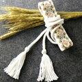 Encaje de Algodón blanco Geométrica Cinturón Estilo Nacional de Las Mujeres Atan Para Arriba El Tamaño de La Correa de La Vendimia Accesorios Del Vestido de La Falda