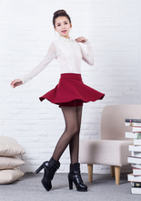Autumn and winter short skirt bust skirt female elastic high waist sheds a-line skirt pleated skirt skorts autumn and winter