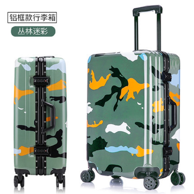 100% aluminum frame Large volume 20/24/26 inch size Army style quality PC Rolling Luggage Spinner brand Travel Suitcase