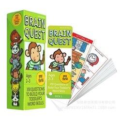 CAIXA CÉREBRO 1 QUEST cartões de estudo das crianças inglesas livros 2-3 anos de idade das Crianças Livro- de-Clube do Mês