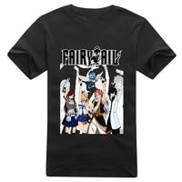 Anime T-Shirt Fairy Tail T-Shirt Nhật Bản Natsu Lucy Erza Scarlet T Áo Sơ Mi