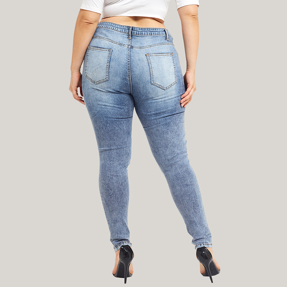 Jeans Woman Plus Size High Waist Ripped Jeans for Women Casual Skinny Hole Denim Jeans modis Streetwear vaqueros mujer 5XL D30 in Jeans from Women 39 s Clothing