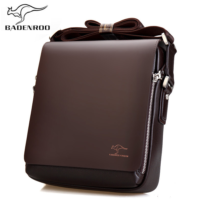 Badenroo Brand Leather Male Bags Fashion Men Shoulder Bags Business Briefcase Casual Messenger Bags Man Hot Sales Crossbody Bags цена 2017