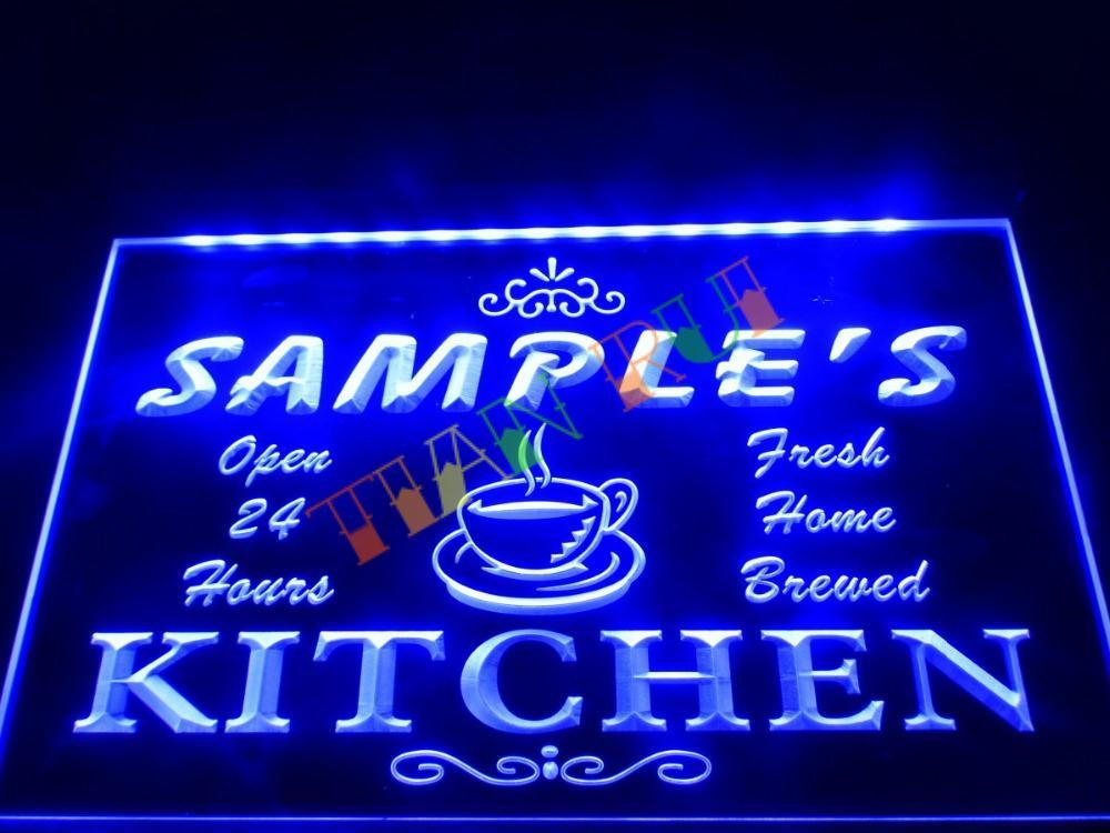DZ004 Name Personalized Custom Mom Kitchen Bar Neon Sign