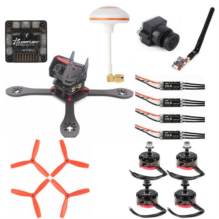 GB190 Carbon Fiber 190mm Wheelbase Multirotor DIY Frame Kit Racing Drone 30A ESC F3 10DOF Flight Controller diy fpv mini drone qav210 quadcopter frame kit pure carbon frame cobra 2204 2300kv motor cobra 12a esc cc3d naze32 10dof