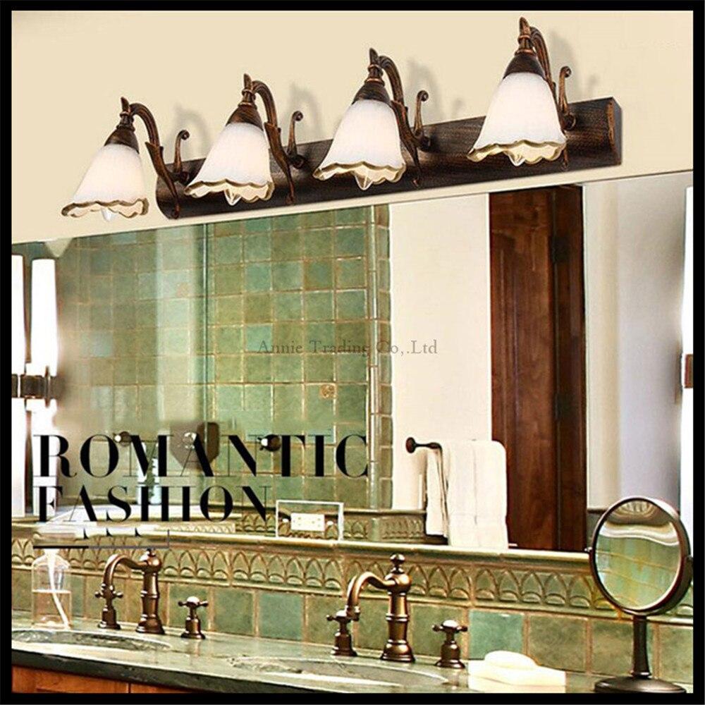 L16 30 46 64cm European America Style Vintage Wrought Iron Wall Lights Mirror