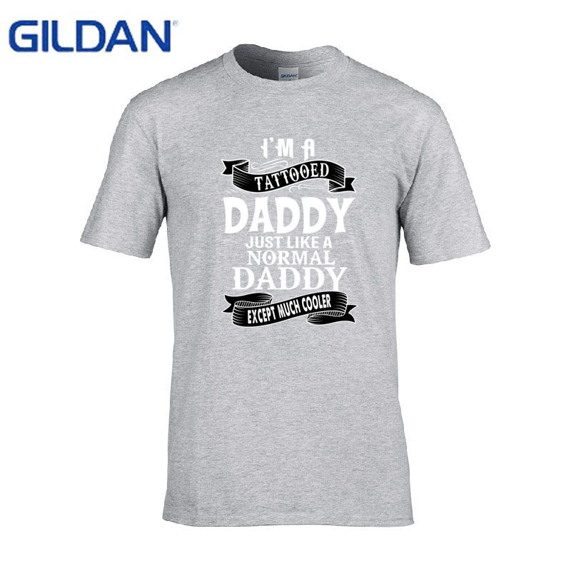 fd550a63 Zomer Tattooed Dad Birthday Gift Dad Tattoo men t shirt slim fit printed  Kawaii Crew Neck tshirt Fitness t shirt men cotton-in T-Shirts from Men's  Clothing ...