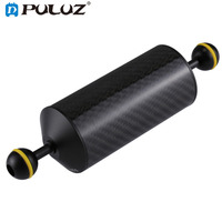 PULUZ 8.86 inch 22.5cm Length 60mm Diameter Dual Balls Carbon Fiber Floating Arm for Underwater Diving Photography