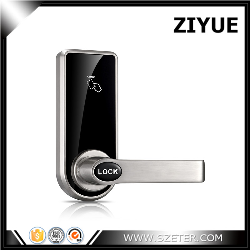 Single Latch  Digital Smart Electronic RFID Card Hotel Lock for Office Apartment Hotel Room Home   ET818RF hotel lock system rfid t5577 hotel lock gold silver zinc alloy forging material sn ca 8037