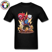 Pow !Super Mario Trample Funny T Shirts Cartoon Video Game Bro Plumber Tshirt For Men Young Design ACDC Comic Tees