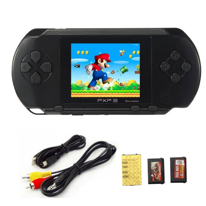PXP3 16 Bit Build In 999999 Classic Games Portable Pocket Handheld Gaming System Console AV Output
