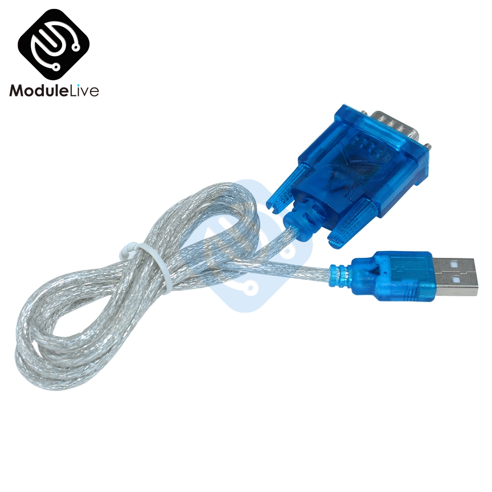 CH340 USB To RS232 COM Port Serial 9 Pin 9 Pins DB9 Cable Adapter Support Windows7 For PC PDA GPS Wholesale New