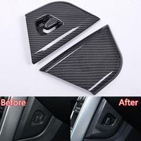 Fit For Land Rover Discovery Sport 2015 2017 Car Central Dashboard Side Car covers Trim Styling Sticker ABS Carbon Fiber Black