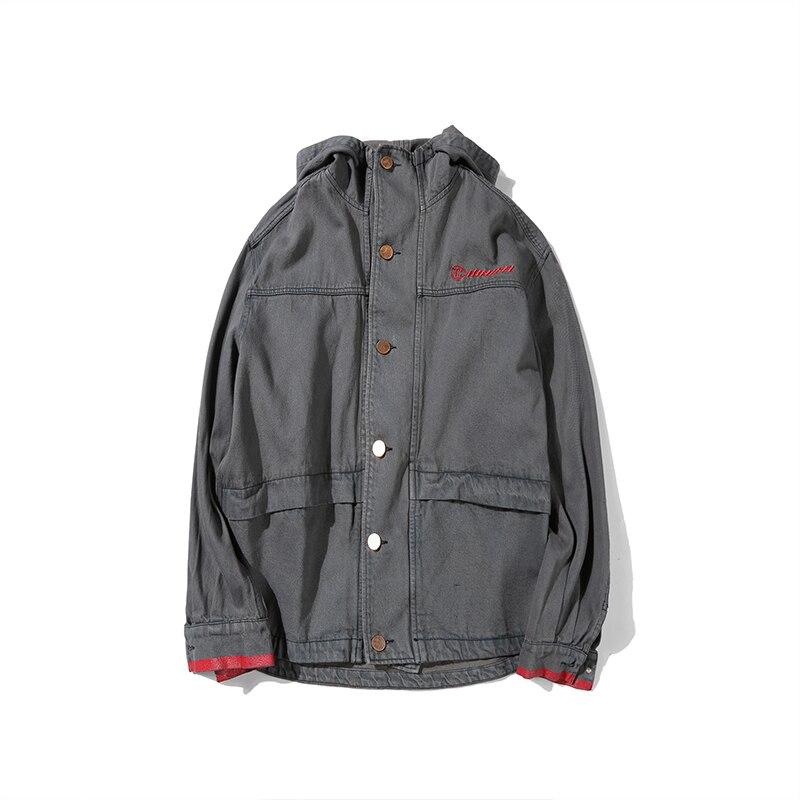 CHINISM 2017 NEW Patchwork Giacca di Jeans Con Cappuccio Old School Safari  Cappotto Capispalla per uomo Giacca Lavato Verde Dell esercito Giacca di  Jeans ... 3ef3aec3710