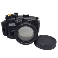 Mcoplus 40m/130ft Waterproof Underwater Camera Diving Housing Case Bag for Sony A6000 Camera with 16 50mm Lens Camera