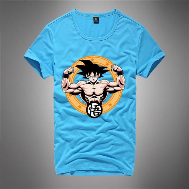 Dragonball Z Son Goku Printed Summer T-shirt