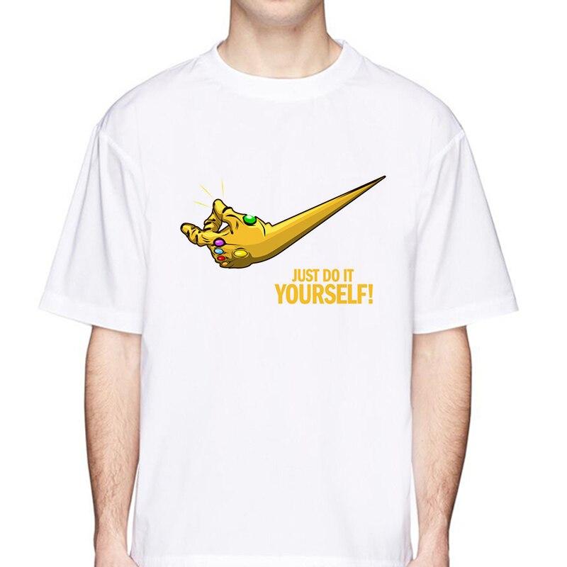 ab09ce4b3 NEW Movie Avengers 3 Infinity War T Shirt Superhero Thanos Funny Printed  TShirt Men Cool Tee