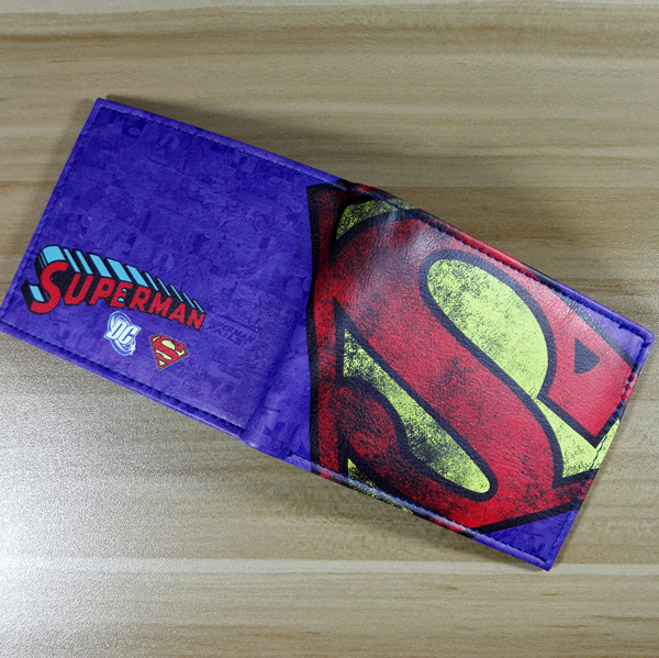 2018 Comics DC Marvel Superman Wallets Leather Purse New Branded Fashion Casual Dollar Bag Anime Cartoon Men Wallet W236 2016 new arriving pu leather short wallet the price is right and grand theft auto new fashion anime cartoon purse cool billfold