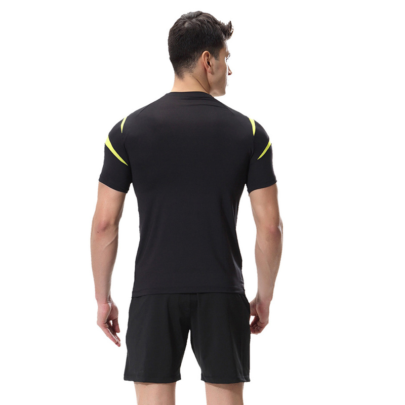 HTB1GvozacfrK1Rjy0Fmq6xhEXXaf Jogging Sport Running Set Men Compression Clothing Training Suit Gym Wear Short Tee And Shorts Two Pieces Fitness Tracksuit