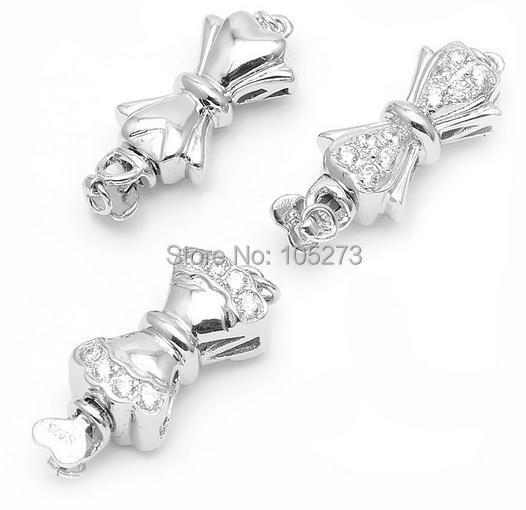 Avec fermoir en zirconium 925 argent, collier bricolage en cristal de perle naturelle de haute qualité, fermoir bracelet-L64.