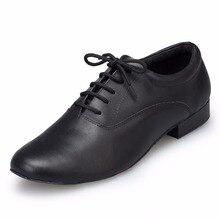 Men Genuine Leather Dance Shoes Heel High 2.5cm Tango Latin Ballroom Salsa Jazz Dance Shoes Plus Size Soft Modern Shoes Sneakers