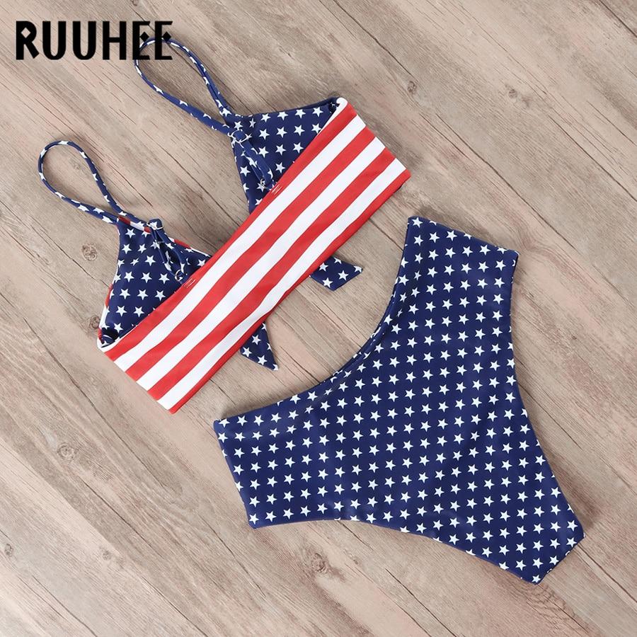 HTB1GvpDelKw3KVjSZFOq6yrDVXaR RUUHEE Bikini Swimwear Women Swimsuit 2019 High Waist Bikini Set Push Up Front Knot Bathing Suit Women Summer Beach wear Biquini