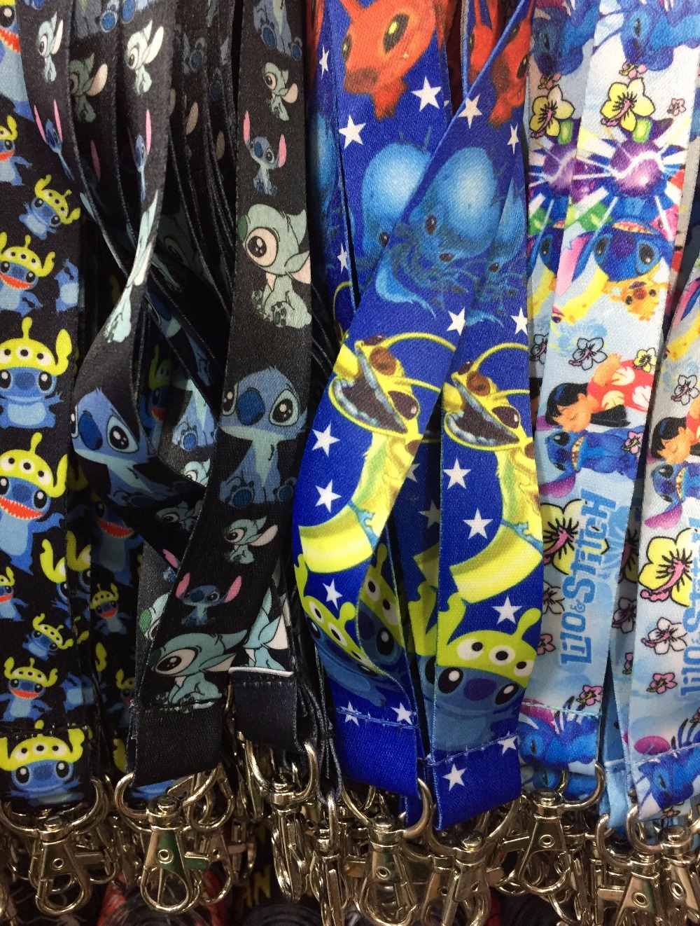Wholesale 100pcs Mixed Japanese anime stitch Neck Straps Lanyards Mobile Phone ID Card Key Condole belt
