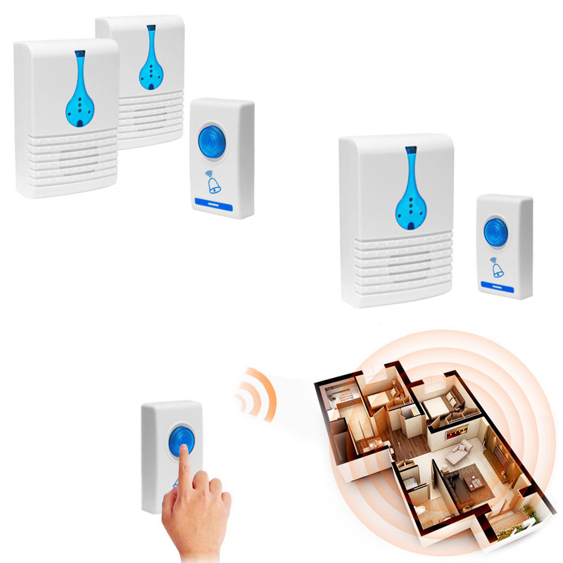2019 Wholesale Durable Digital Wireless Door Bell Cordless With 32 Chime Home Office Safety Ring Protect Accessories Deurbel