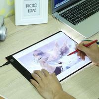 Цифровой A4 светодио дный графический планшет написания картины планшет для рисования отслеживание Панель световой трафарет доска Дисплей ...
