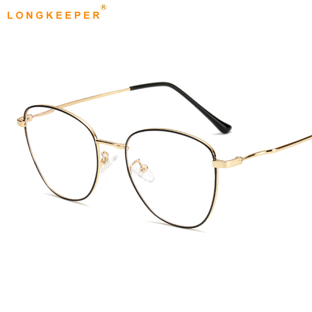 64c7f8df36d5 2019 Vintage Eyewear Frames Hexagon Glasses Women Eyeglasses Frames Men  Metal Transparent Lenses Myopia Computer Glasses
