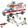 Ambulancia Camilla de Primeros Auxilios Médico Enfermera juegos de Bloques de Construcción Ladrillos Juguetes minis Juguetes brinquedos leping