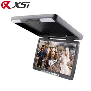 Image 2 - XST 15.4 インチ HD 1080P ビデオ車屋根フリップダウン天井マウントモニター MP5 プレーヤーサポート USB SD カード sperker IR FM トランスミッタ
