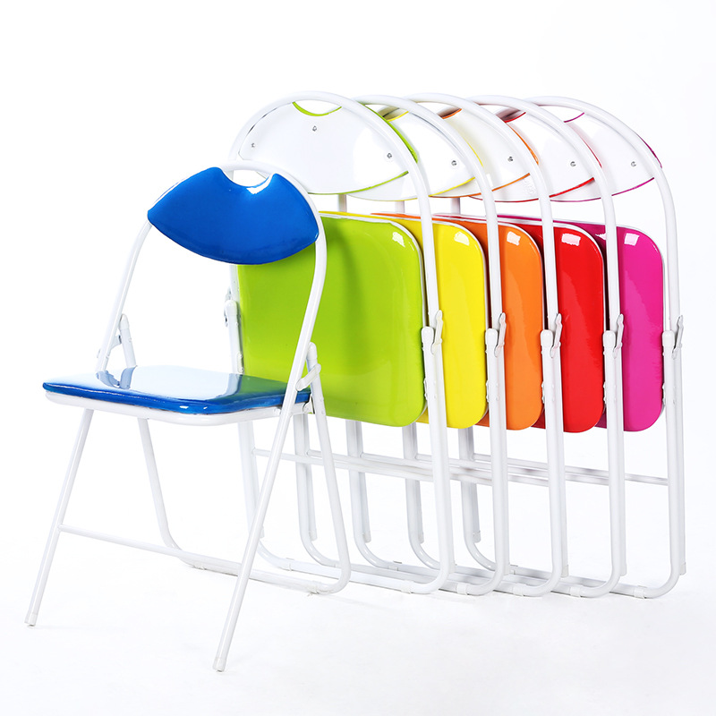 6pcs/lot Hot selling office computer chair Folding Chair Color home leisure chair simple backrest conference chair