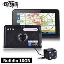 Новый 7 дюймов GPS Навигации Android GPS DVR Allwinner A33 Quad Core 16 ГБ 1080 P AVIN Камера заднего вида Емкостный Сенсорный экран