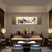 цена ShaoFu Scroll Painting Chinese Traditional Gifts Peony Wall Silk Painting Office Home Decoration Beautiful Handicrafts Painting
