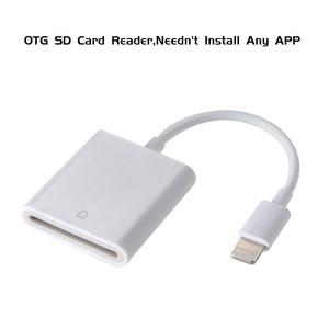 Image 4 - SD カードリーダー OTG 雷カメラ変換キットなしアプリ必要サポート 256 グラム TF マイクロ Sd カードリーダー最新の iphone アプリ