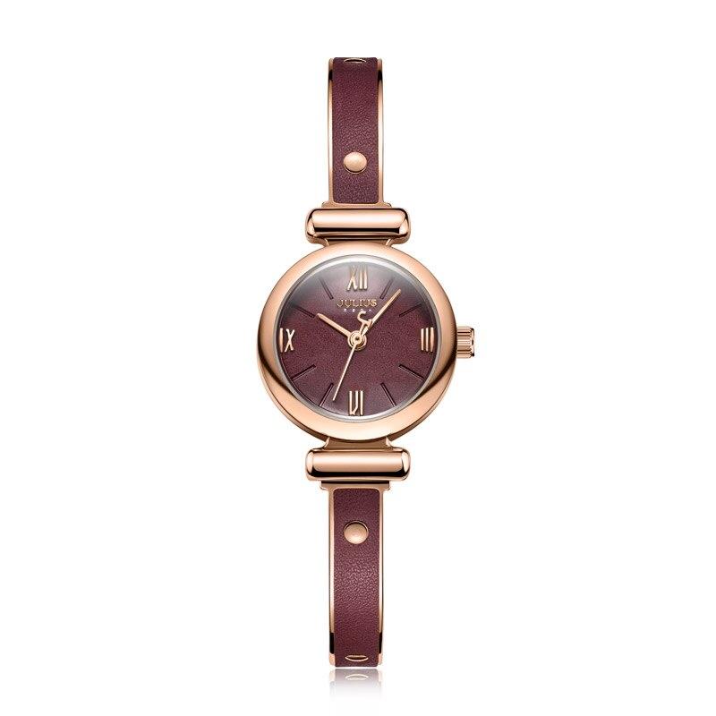 pulseira relógio de vinho tinto romântico senhoras