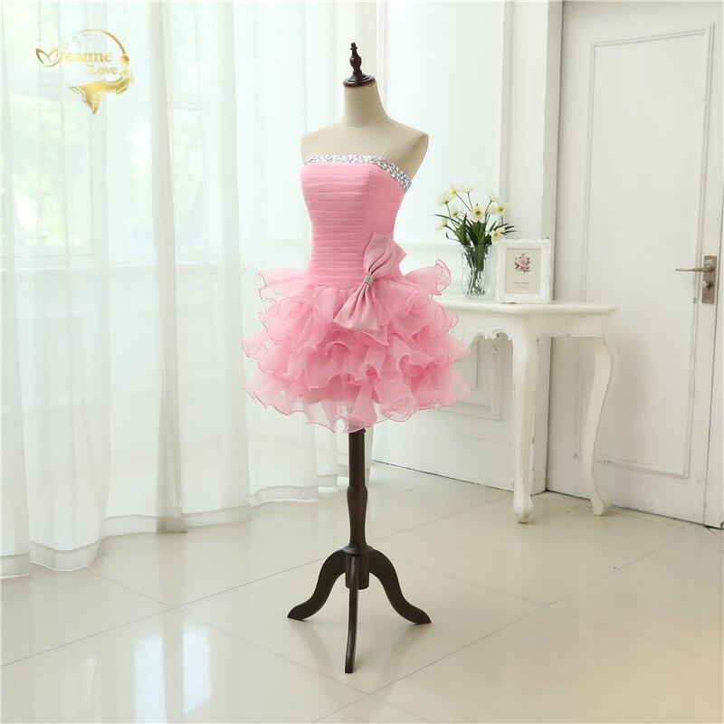 Ζεστό Πώληση Vestido De Festa Curto 2019 Ροζ - Ειδικές φορέματα περίπτωσης - Φωτογραφία 3