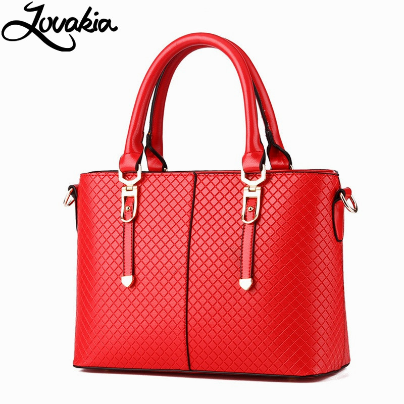 ФОТО Lovakia Designer Women Handbag Female PU Leather Bags Handbags Ladies Portable Shoulder Bag Office Ladies Hobos Bag Totes