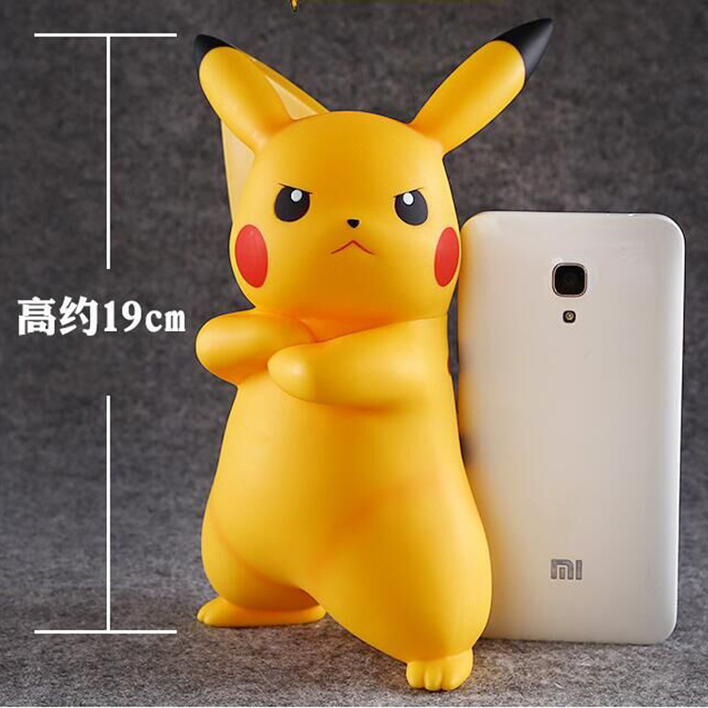 19cm Cute Creative Pikachu Piggy Bank Coin Box Money Bank Coin Action Figure Kids Christmas Birthday Gift Free Shipping the football game comes to coin money toy box pastic coin cases hidden safe kids piggy bank money toy game bank safe magic jbzq