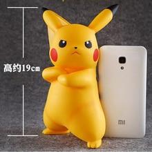 ФОТО 19cm Cute Creative Pikachu Piggy Bank Coin Box Money Bank Coin Action Figure Kids Christmas Birthday