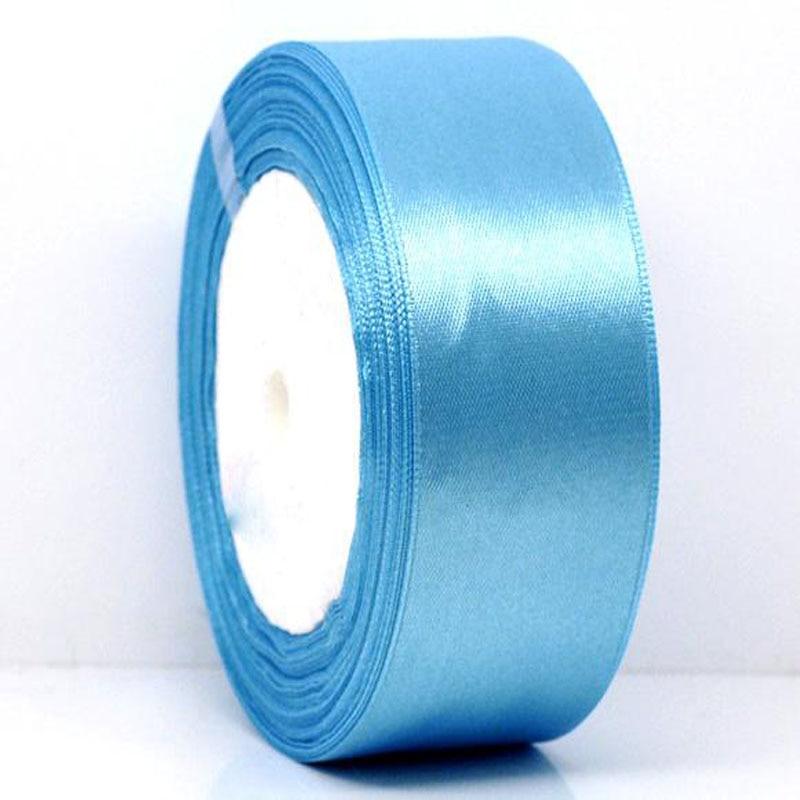 25 ярдов 1 рулон 1-1/2 «широкий синий атласной лентой для упаковки Craft Свадебные Аксессуары ленты лук 38 мм