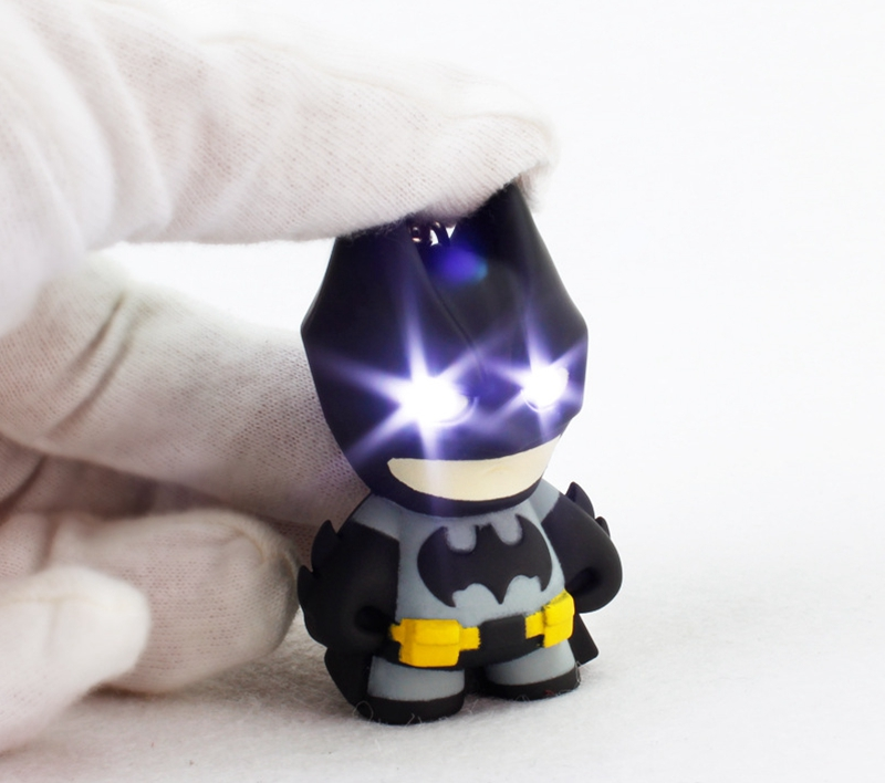 New Arrive Batman Keychain, Led Keychain With Sound, Flashlight Keychain Figure Keyrings,Cool Batman Keychain 2#