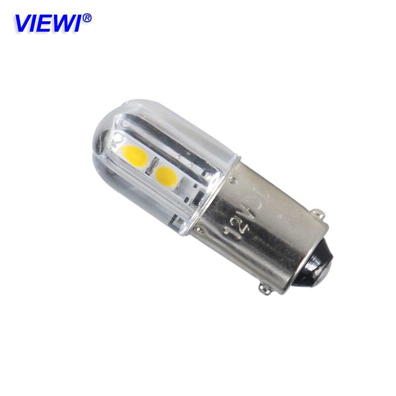 Viewi 10X BA9S светодио дный огни Dc 6 12 24 36 48 Вольт Авто резервного копирования резервные лампы 1 Вт 6 В 24 В 12 В индикатор smd 3030 чип
